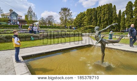 Poznan, Poland - May 1 2017: Botanic Garden On 1 May 2017 In Poz