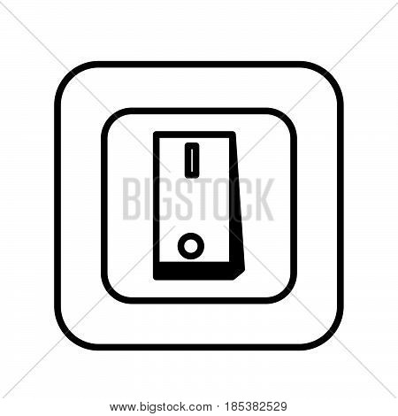 a Simple thin line switch icon vector