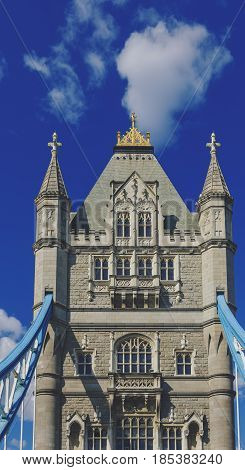 Detail Of The Tower Bridge In London While Driving On It