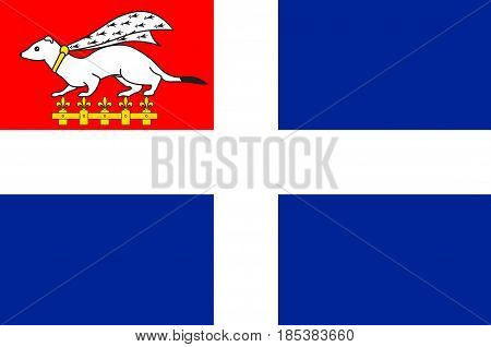 Flag of Saint-Malo is a walled port city in Brittany in northwestern France on the English Channel