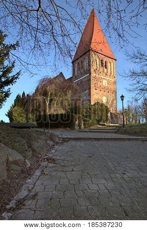 Clinker Church In Horst Near Greifswald, Mecklenburg-vorpommern, Germany