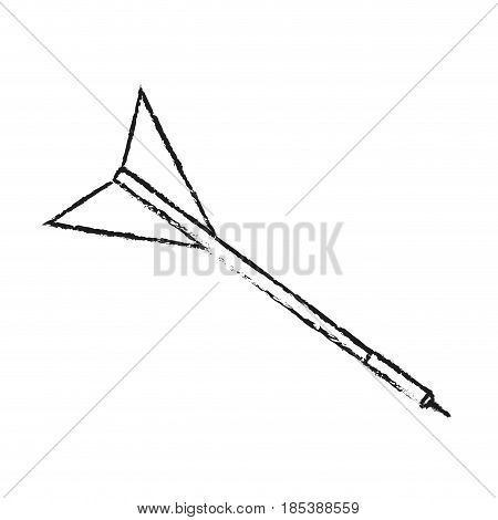 blurred silhouette image side view dart with arrowhead vector illustration