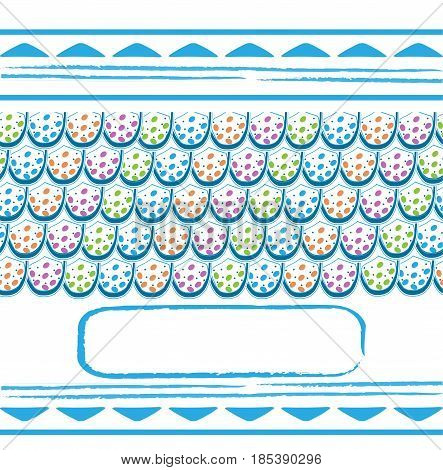 Template frame design for greeting card vector illustration
