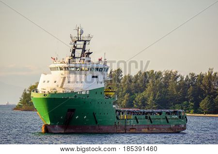 Offshore oil & gas support vessel in Labuan,Malaysia.All the vessels in Labuan island,most related to the offshore Oil & Gas industry.