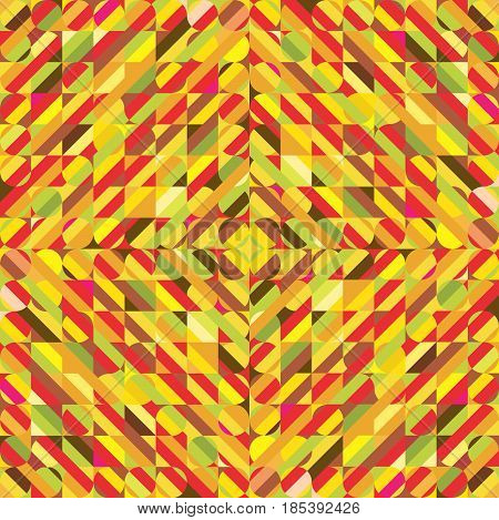Abstract vector geometric colorful background, warm tone color.