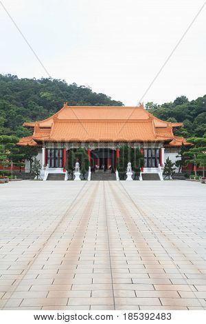 Entrance Building Of National Revolutionary Martyrs' Shrine In Taipei, Taiwan