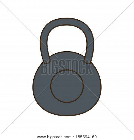 kettlebell weight gym workout hard vector illustration