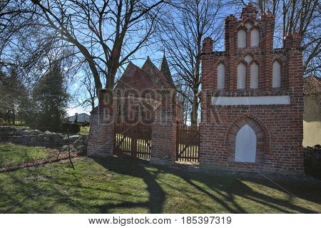 Church And Pilgrims Chapel In Levenhagen, Mecklenburg-vorpommern, Germany