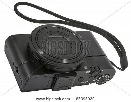 the digital camera isolated on white background