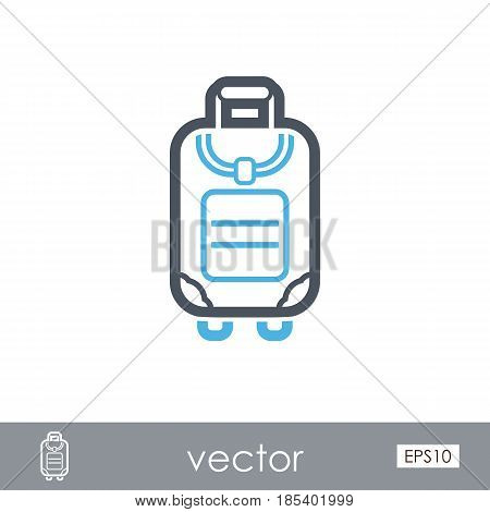 Baggage outline vector icon. Travel. Summer. Summertime. Holiday. Vacation eps 10