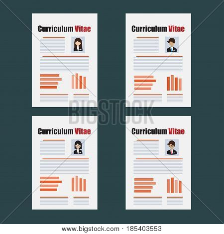 Curriculum Vitae or resume template. Inter view or recruitment concept
