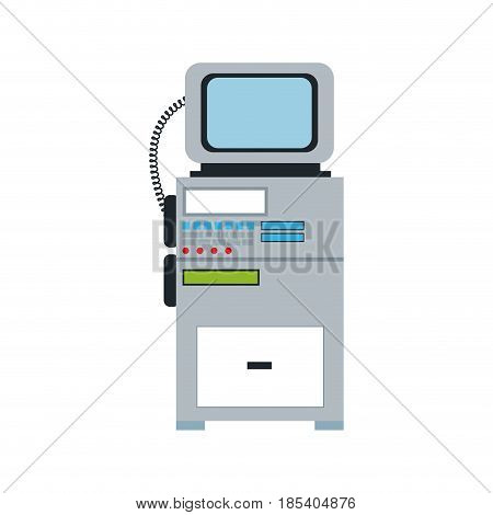 monitor cardiology clinic equipment support vector illustration
