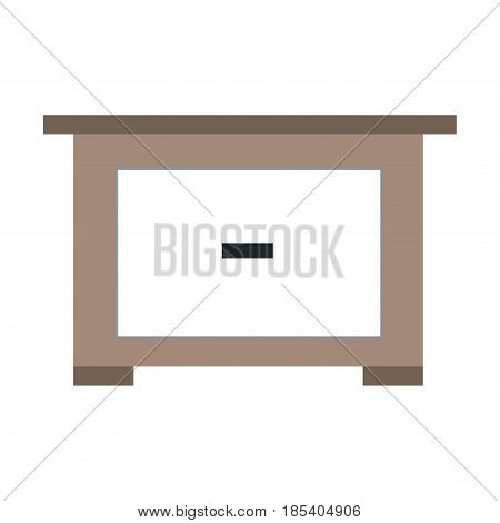 bedside table wooden furniture image vector illustration