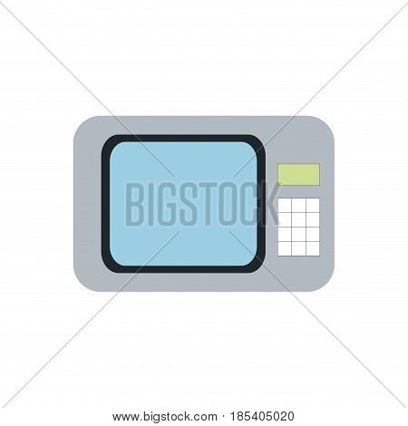 microwave cooking appliance equipment image vector illustration
