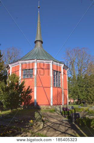 Palace Chapel In The Town Of Griebenow, Mecklenburg-vorpommern, Germany