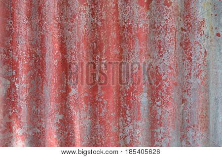 Red weathered galvanize sheet background and texture