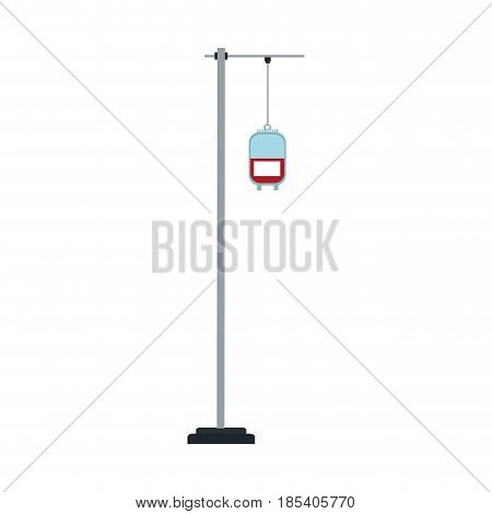hanging bag blood trasnfusion medical vector illustration