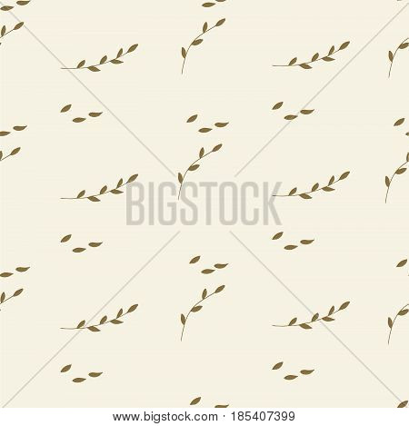 Floral Seamless Pattern With Branches And Leaves.