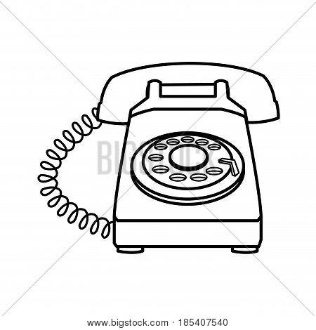 telephone talk communication element image line vector illustration