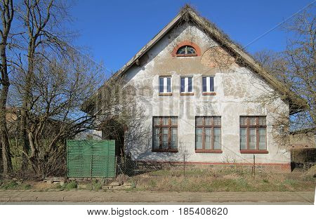 Former School Building Listed As Monument In Dambeck, Mecklenburg-vorpommern, Germany