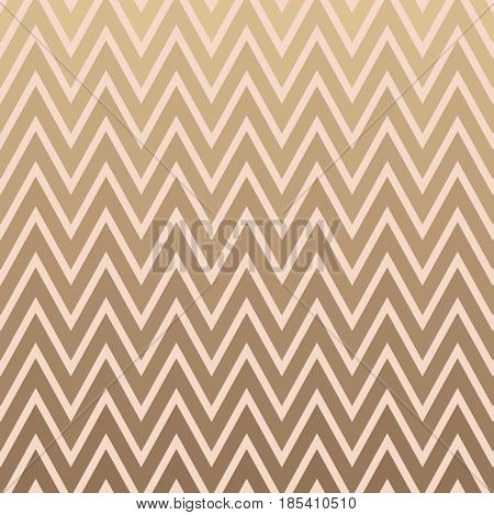 Pink and Gold Chevron Pattern Vector. Decorative Feminine Zigzag Background in Blush and Gold. Invitation and Scrapbook Background Texture.