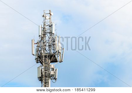 Large Communications Tower on a Blue Sky