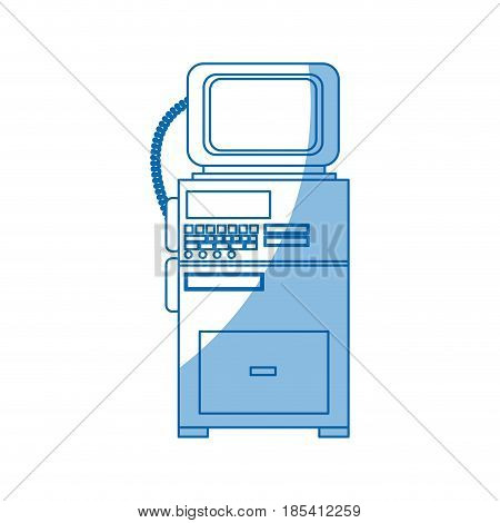monitoring cardiology technology equipment image vector illustration