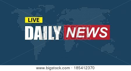 Daily NEWS banner template. Flat designed illustration
