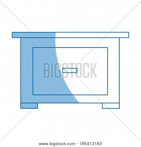 bedside table furniture modern style image vector illustration