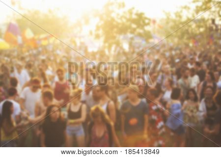 People Enjoying Live Music Concert Festival