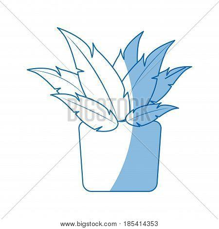 pot plant natural decoration ecology vector illustration