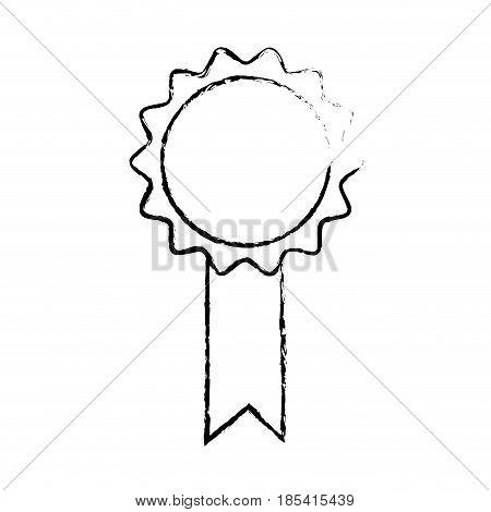 rosette premium quality winner certificate sketch vector illustration
