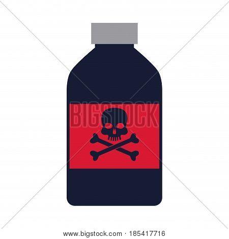 bottle poison danger laboratory toxic vector illustration