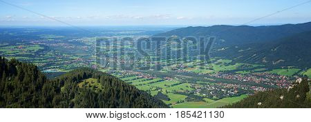 Isar Valley View From Brauneck Mountain