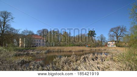 Park And Manor House Listed As Monument In Klein Zastrow, Germany