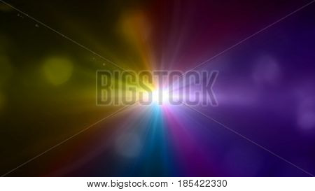 Colorful Lens Flare With Boke Background
