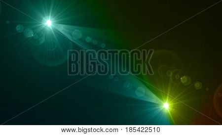 Green Flare Background