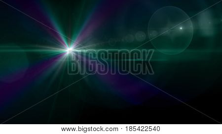 Green Star Effect Background