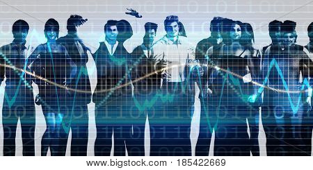 Team Spirit On a Mission in Business 3D Illustration Render