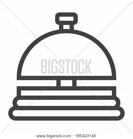 Hotell bell line icon, Travel and tourism, reception service vector graphics, a linear pattern on a white background, eps 10.