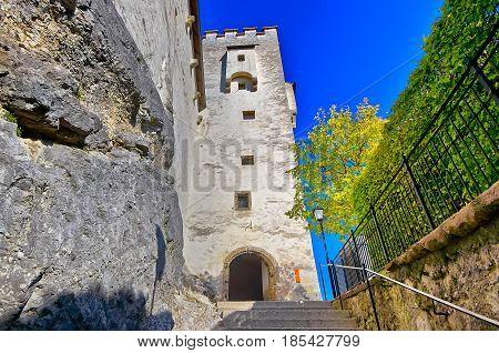 View Of Salzburg With Festung Hohensalzburg, Salzburger Land, Au