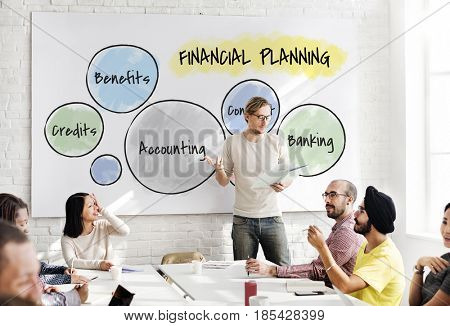 Business people accounting boardroom meeting