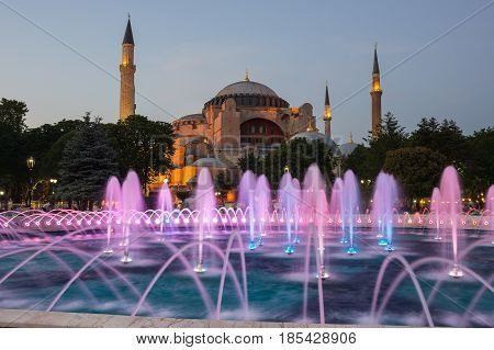 Ayasofia was a Greek Orthodox Christian patriarchal basilica (church) later an imperial mosque and now a museum in Istanbul Turkey