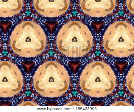 Abstract Extruded Pattern 3D Illustration Honeycomb