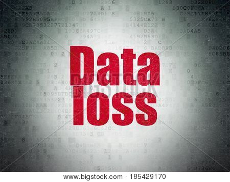 Data concept: Painted red word Data Loss on Digital Data Paper background
