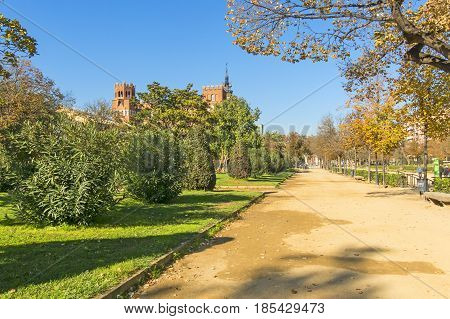 Overview Of Citadel Park And Botanical Palace. Barcelona, Spain.