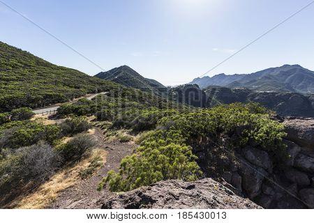 View towards Yerba Buena Road and Boney Mountain Wilderness Area in the Santa Monica Mountains National Recreation Area.
