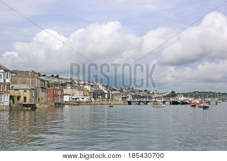 Falmouth town by the River Fal, Cornwall