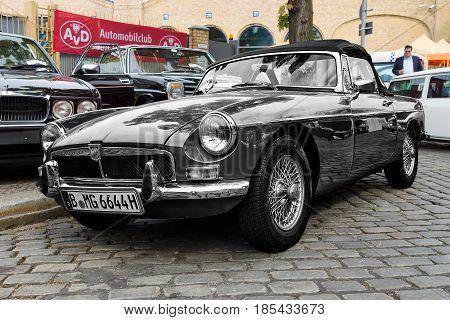 BERLIN - MAY 11: British sport car MG MGB 26. Oldtimer-Tage Berlin-Brandenburg May 11 2013 Berlin Germany