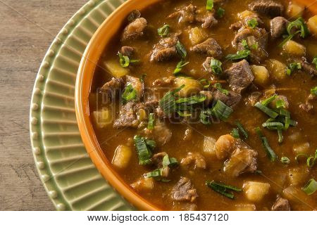Rustic Stew Meat With Maniocs